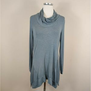 LOGO by Lori Goldstein Gray Stretch Knit Tunic